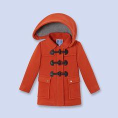 9a75ee41d21a Hooded toggle coat ORANGE Girl - Boys and girls Clothes - Jacadi Paris  Rangement Bébé,