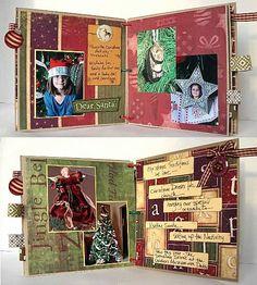make inside of scrapbook look beautiful