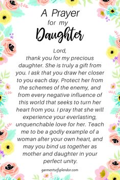Seven Scriptures to Pray Over your Daughter (Plus a FREE Mother-Daughter Prayer Journal) - - Prayers For Healing:Grab this FREE mother/daughter prayer journal to deepen your relationship with - Prayer Scriptures, Bible Prayers, Faith Prayer, Prayer Quotes, Bible Quotes, Strength Scriptures, Prayer Signs, Mom Prayers, Prayers For Strength