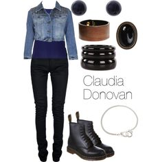 Claudia Donovan by characterclothing on Polyvore featuring polyvore, fashion, style, Forever New, Topshop, Yves Saint Laurent, Dr. Martens, See by Chloé, Black & Brown London, Finesse and Bee Charming