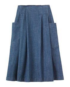 DENIM SKIRT by TOAST This skirt is so flattering
