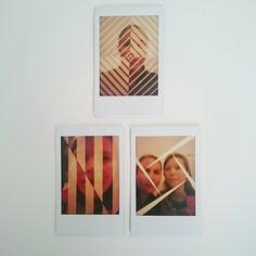 Experiments with Instax Mini 90 double exposure mode, taken at the Whitney museum in New York City.