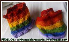 El Rincón de la Artesanía: Cuello arco iris tablero y liso