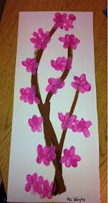 cherry blossoms with finger prints