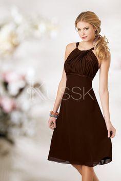 Mittelgröße Empire Taille informelles Brautjungfernkleid für Rechteck Figur mit Mitte Rücken