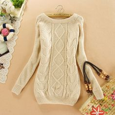 09ec72e299839 2017 New Fashion Brand New Autumn Winter Female Mohair Sweater Loose  Knitted Long Sleeve O-neck Pullovers Hot Sale 70077