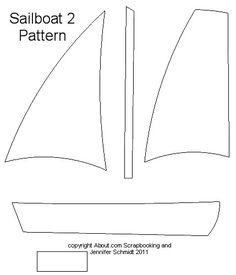 Free Large Paper Piecing Patterns and Layouts for Scrapbooking : Large Sailboat Pattern - Free Scrapbook Paper Piecing Pattern