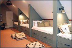 Great kids bedroom in the attik