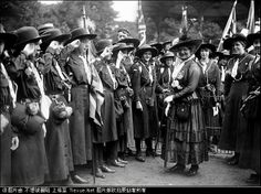 British Girl Guides during WW1 (1914-1918) with Queen Mary.