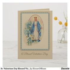 St Therese The Little Flower Valentines Business Card Flowers