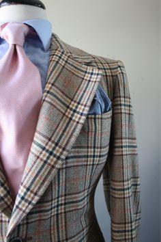 Classic plaid suit