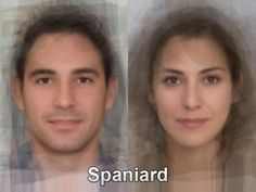 The typical Spanish face from thousands and thousands of images of everyday people compiled together into one composite portrait. To see more, go here. http://www.mediadump.com/hosted-id167-average-faces-from-around-the-world.html