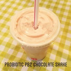 Lifeway Kefir Plain Probiotic Smoothie with 2 tbs of PB2 Chocolate and ice! 15 grams of protein and only 150 calories :)