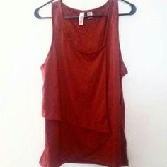 Burgandy tank Gorgeous tank top, worn once, great condition. Has an extra layer on the front. Rich color. Size XL but fits more like L. Route 66 Tops Tank Tops