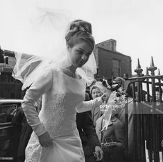Frances Shea (1943 - 1967) at her wedding to British gangster Reggie Kray at St. James's Church in Bethnal Green, London, 20th April 1965.