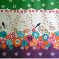 Etsuko Furuya Bird Panel Half Yard by sewfreshfabrics on Etsy, $9.00