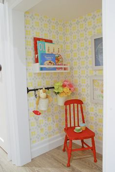 Every kid dreams of a little hideaway, so why not make your child's day by turning a small closet into a playroom?