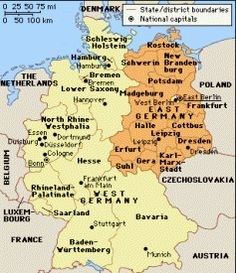 East West Germany Map Map of East / West Germany | Knowledge | Germany, Map, Berlin East West Germany Map