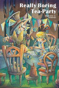 really boring ter party. by frankenji on DeviantArt Alice In Wonderland, Tea Party, Deviantart, Illustration, Painting, Painting Art, Paintings, Illustrations, Tea Parties
