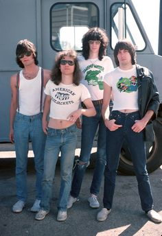 The Ramones - August 1976, Los Angeles (photo by Michael Ochs)