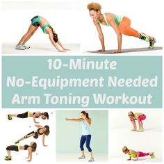 Try this no-equipment arm toning workout! Think you need heavy weights or a gym membership to get flex-worthy arms? Think again! Try these moves at home (or anywhere, really) to get the sleek, sexy, and toned arms you want. Fitness Workouts, At Home Workouts, Fitness Tips, Fitness Motivation, Health Fitness, Body Workouts, Workout Routines, Arm Toning Exercises, Weight Exercises
