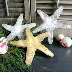 Starfish Distressed Silver Gold Gulf Ocean by SlippinSouthern, $31.00
