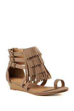 Boho Fringe Sandals