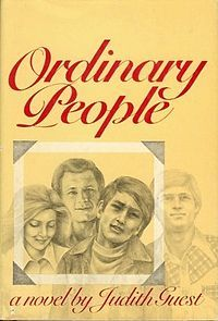 Ordinary People by Judith Guest. Read this in Jr High & the teacher was surprised I comprehended the subject matter so young. Hmm, it wasn't that difficult but it's a wonderful book. Made into a movie in 1980 with Donald Sutherland & Timothy Hutton.