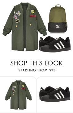 """Untitled #98"" by naa215 on Polyvore featuring WithChic, adidas and Topshop"