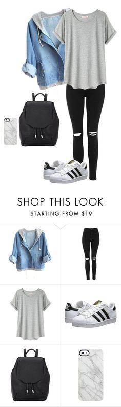 """Untitled #716"" by jasminator-456 ❤ liked on Polyvore featuring Topshop, Organic by John Patrick, adidas Originals, rag & bone and Uncommon"
