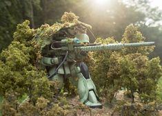 GUNDAM GUY: REVENGE: Ready to Shoot [Zaku Sniper] - Diorama Build