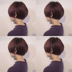 Another bowl cut 😍 Short Bob Haircuts, Short Hairstyles For Women, Cool Hairstyles, Very Short Hair, Short Hair Cuts, Shot Hair Styles, Asian Hair, Hair Dos, Hair Designs