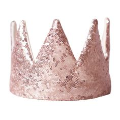 Crown For Kids, Cotton Gifts, Christmas Accessories, Dress Up Outfits, Sequin Fabric, Gold Crown, Gold Sequins, Matte Gold, Pink Sapphire