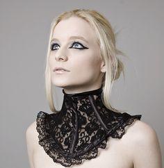 Black Lace Neck Corset  $85.00
