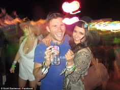 Flirty: Scott Eastwood and Nina Dobrev set off romance rumors as they cuddled together for...