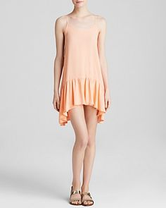 Make your beach days peachy with this ruffled MINKPINK dress. #100PercentBloomies