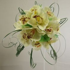Silk Bouquet Orchid BridesWedding Flowers. Just can' believe they are not real.  #Weddings #WeddingFlowers