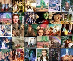 wizard of oz collage picture Wizard Of Oz Movie, Wizard Of Oz 1939, Old Movies, Great Movies, Ray Bolger, Land Of Oz, Tv Show Games, Cartoon Tv Shows, Yellow Brick Road