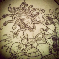 Medusa Design pin up by ~Frosttattoo on deviantART