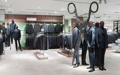 Breuninger menswear by HMKM, Stuttgart   Germany store design - Those are some big scissors!