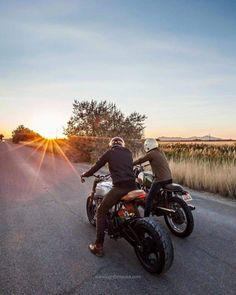 Sunset on motorbikes                                                       …