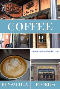 Here's a roundup of coffee shops in Pensacola, FL. Stay caffeinated my friends! ******************************************************** coffee shops, best coffee, latte art, coffee in pensacola, coffee in florida