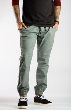 Gongshow Hockey Mens Grey Jogger Chino Pants  525c09a26b