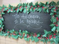 Cute Holiday bulletin board for school.