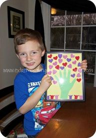 Darling, Cheap & Easy kids Valentines craft. Great for the grandparents!