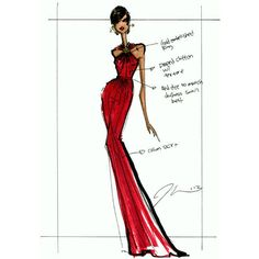 First Lady Michelle Obama Wears a Jason Wu Red Gown To The 2013... ❤ liked on Polyvore featuring dresses, jason wu, red and sketches