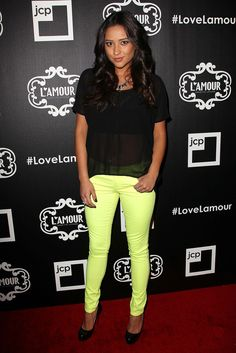 The Pretty Little Liars actress Shay Mitchell sported our gleaming Vapor necklace with three Cirque rings.