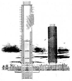 Kiyonori Kikutake | Comunidad en forma de torre [Tower Shaped Community] | 1958