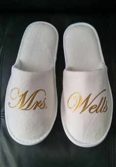 853c514835ec7 Bride Slippers - Personalized Bridal Slippers - Bridal Parties - Wedding  Slippers - Bridesmaid Gifts - Bridal ShowerGift