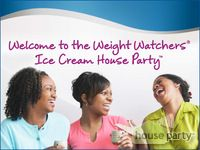 Weight Watchers Ice Cream House Party